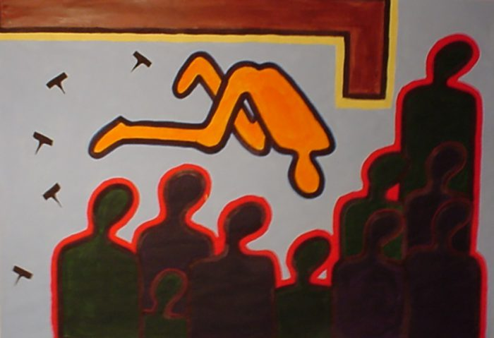Judging / Technique: Acrylic on Paper / Dimensions: 150 x 200 cm / Year: 2004